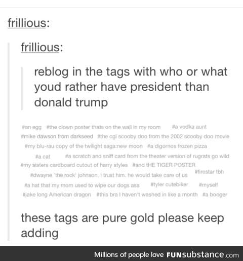 I'd rather have Draco Malfoy as prez