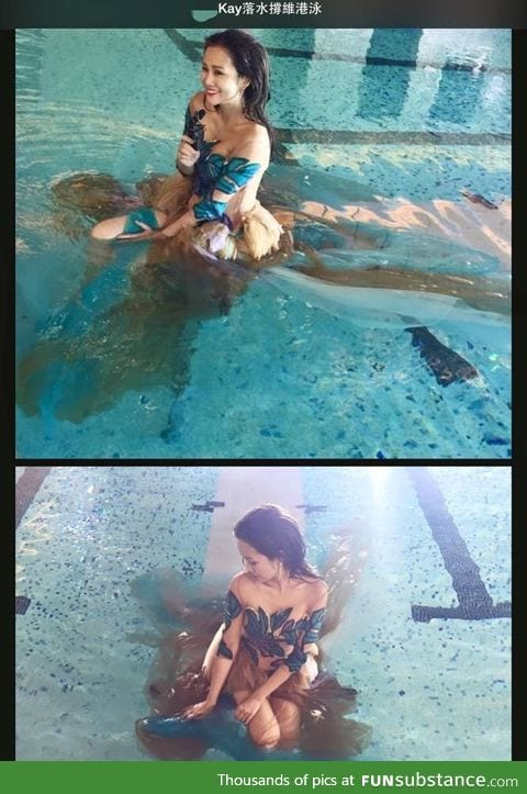 Why you shouldn't wear a brown dress in a swimming pool