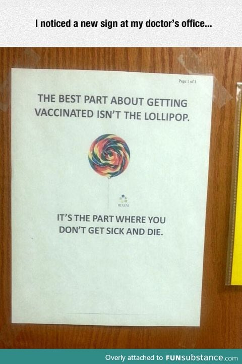 Best part about getting vaccinated
