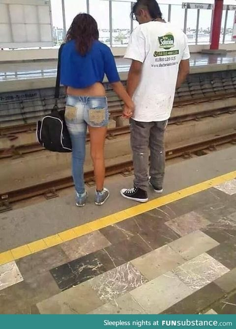When your Jeans are not downloaded yet, but you need to take the train