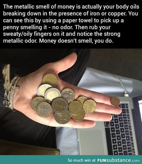 Coins Don't Smell, You Do