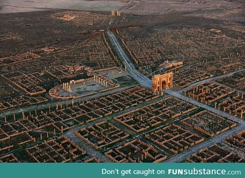 The ruins of a Roman colony in Africa