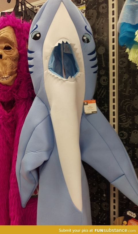 So apparently they now sell Left Shark costumes