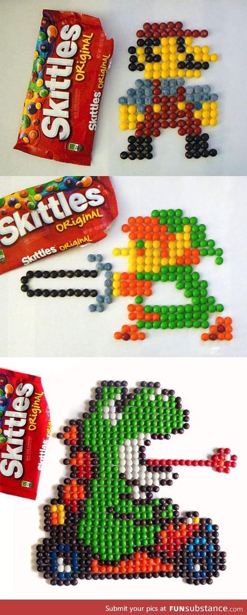 8-bit skittle art