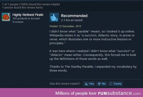best steam review ive seen in a while