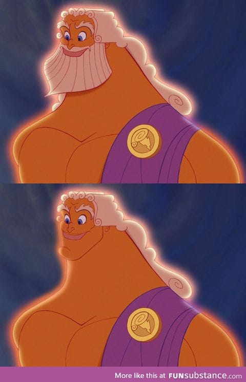 Famous bearded toons without beards #1 (Zeus from Hercules)