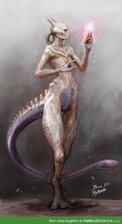 Found this picture of Mewtwo