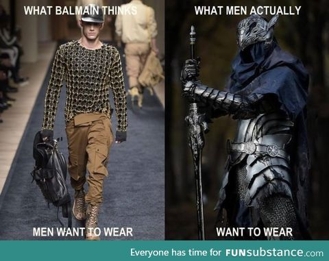 What men really wanna wear