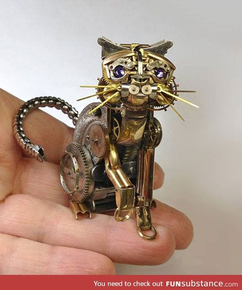 Made from old watch parts