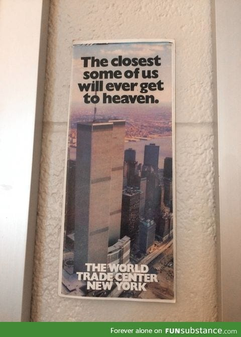 Unfortunate ad for the World Trade Center from shortly after it opened