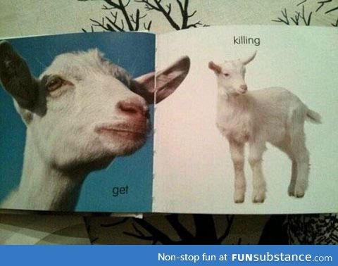 The Swedish word for 'Goat' is 'Get' and the word for 'Kid' is 'Killing'