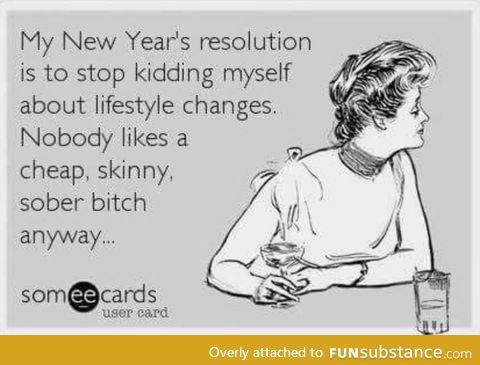 Never too early for resolutions