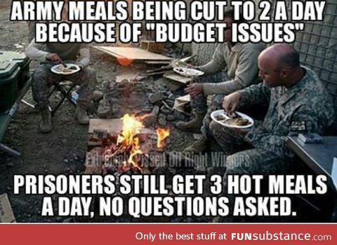 Why are we treating our prisoners better than out soldiers (in the US)
