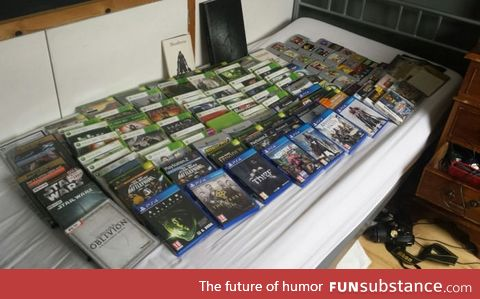 This guy sold 110 games plus 6 consoles (including ps4) to buy an engagement ring