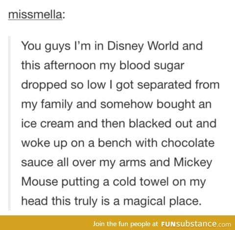 Mickey is such a kind caring soul to take care of her