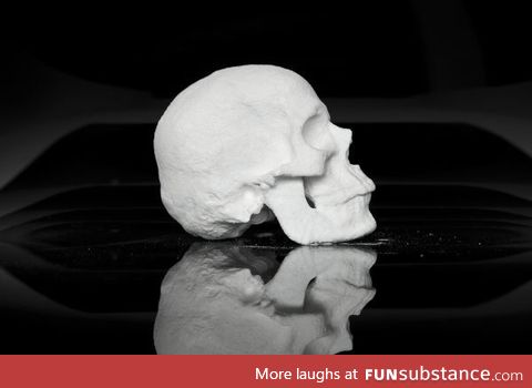 This skull is made from cocaine