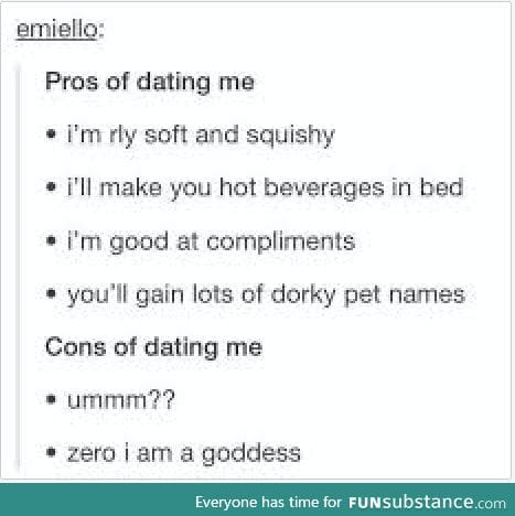 Tumblr perks of dating me