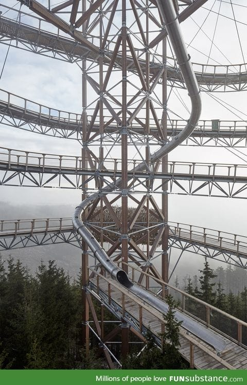 A 330-foot long slide in the Czech mountains