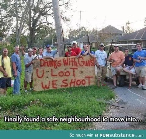 A family friendly neighborhood