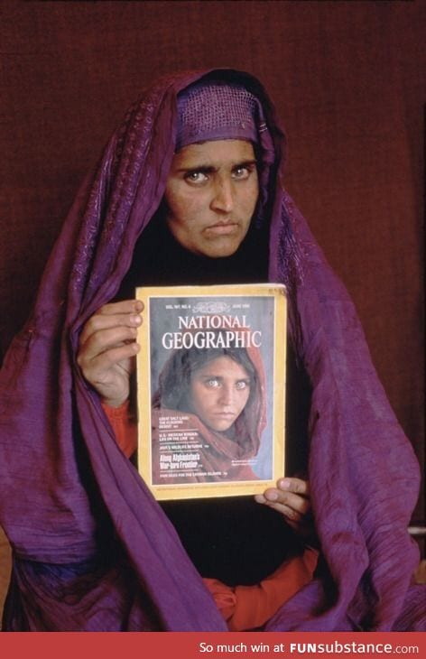 National Geographic's iconic Afghanistan refugee found years later and re-photographed.