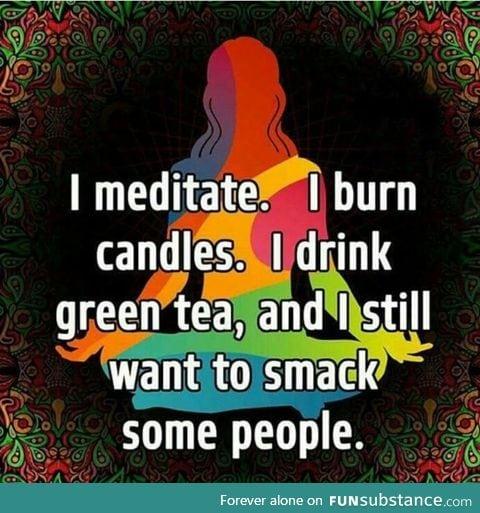 Slap and say Namaste