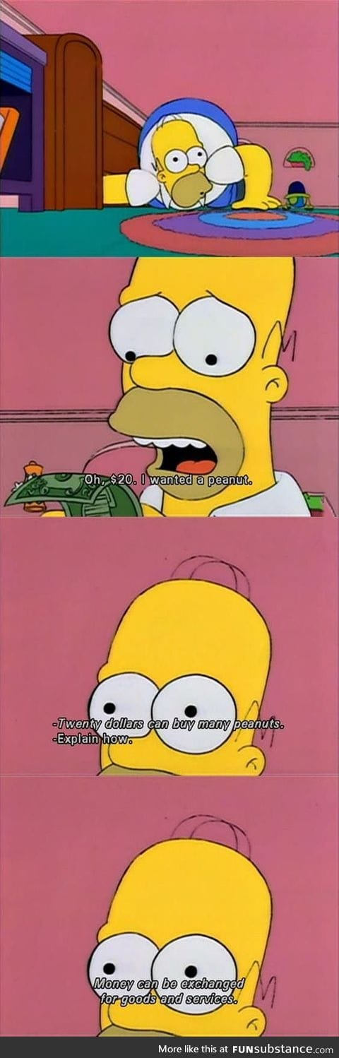 Always funny when Homer's brain let him know what's up