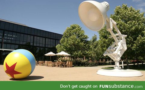 Pixar's studios actually have the lamp outside lmao