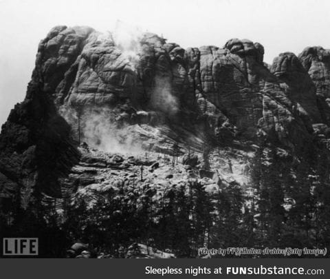 Mount Rushmore before the Carving