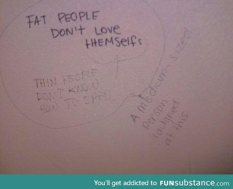 Public bathroom ironies. Found few years ago ..