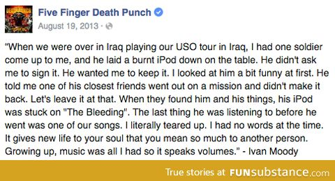 Five Finger Death Punch get into your feels with everything they do