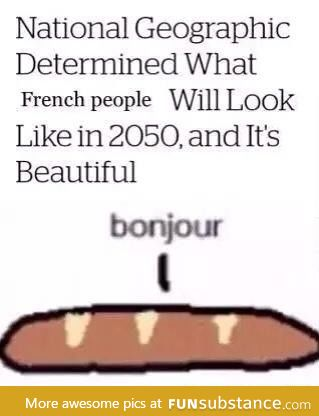 Beautiful French people in 2050