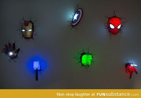 Marvel wall lights