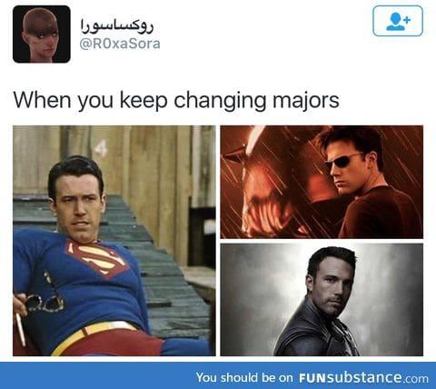 Pick a major already