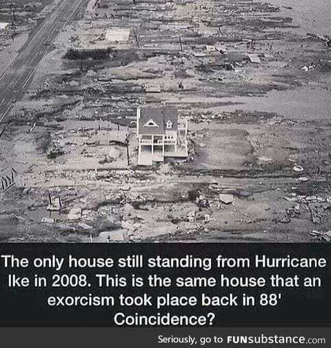 The only house to survive a hurricane