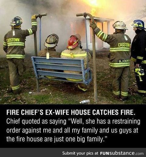 Firemen doing their work