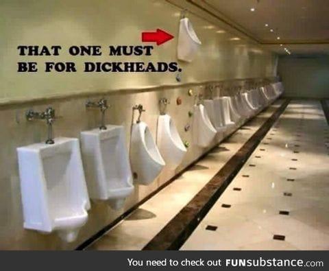 Urinal for d*ck heads