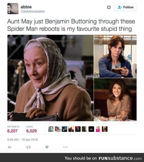 Aunt May Button
