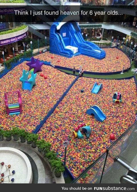Forget 6 year olds, I would love this place.
