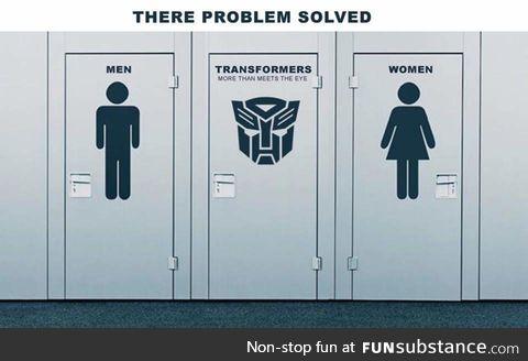 Solution to thre transgender bathroom thing