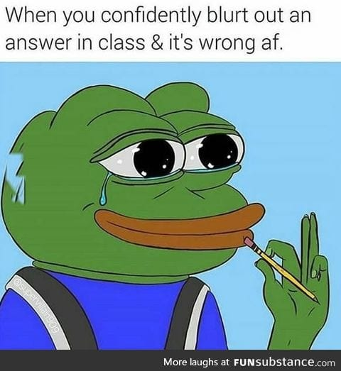 When you give the wrong answer