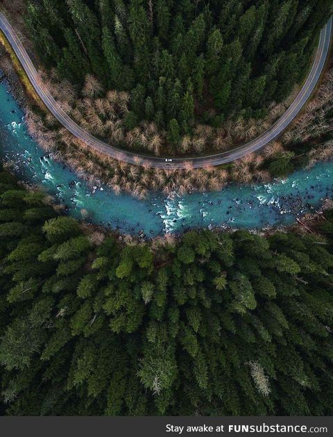 Mountain Road from Above