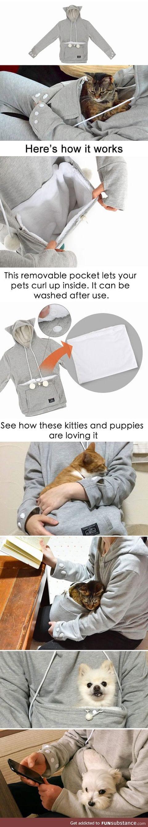 The new amazing 'meowgaroo' hoodie