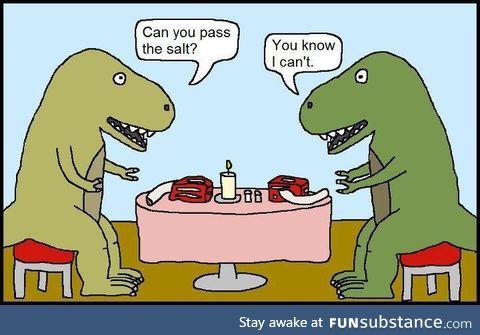 Passive Aggressive T-Rex Dinner