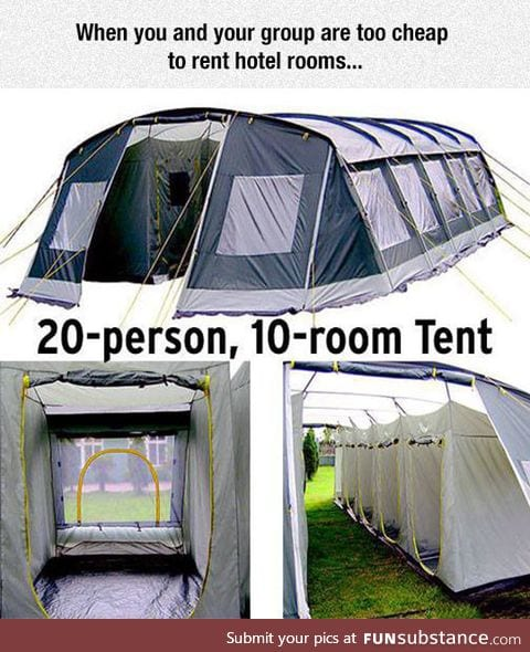 Would actually be awesome to stay in one of these with friends