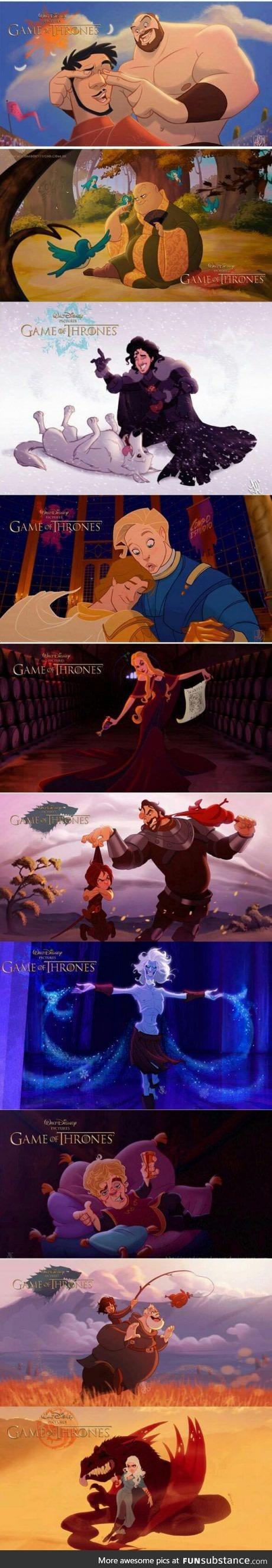 Disney GOT by nandomendonssa