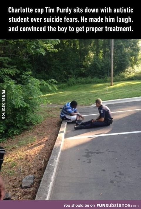 Charlotte officer talks to a potentially suicidal teen with autism