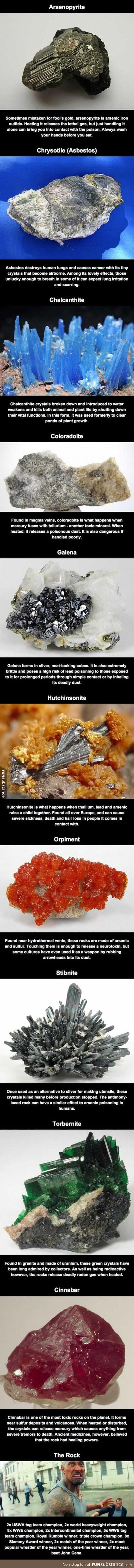 Deadliest rocks in the world
