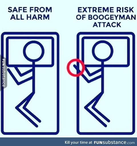 TBH I still keep all of my limbs safely under the covers and I always close my closet door