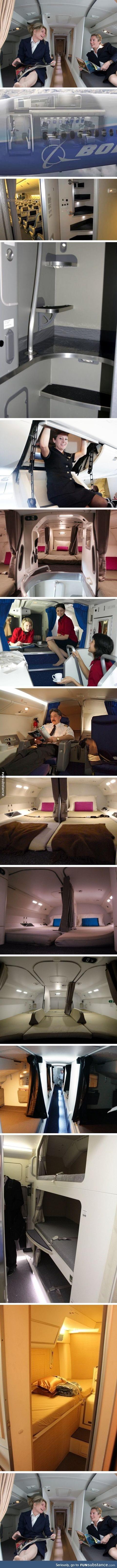 Secret Cabins Flight Attendants Sleep In During Long Haul Flights