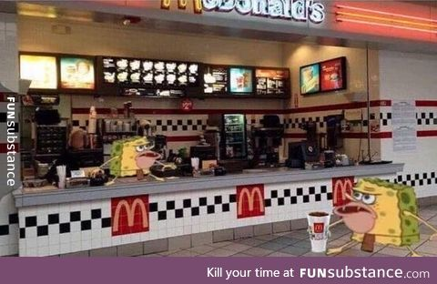 when you ask for a water cup and they catch you with soda